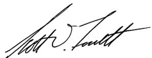 Scott Fossett's signature.