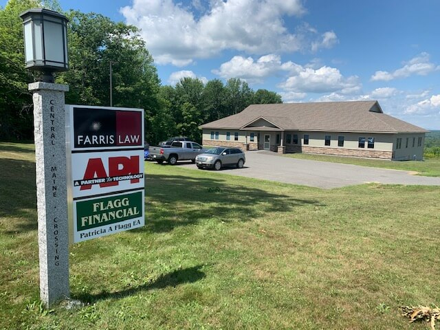 API sign at new Gardiner, Maine location.